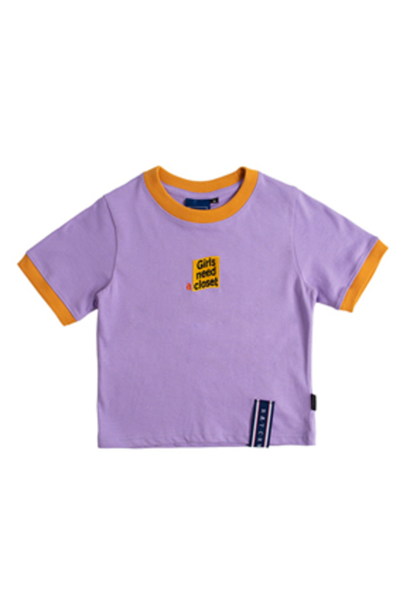Romantic Crown로맨틱크라운 GNAC Crop T Shirt_Purple