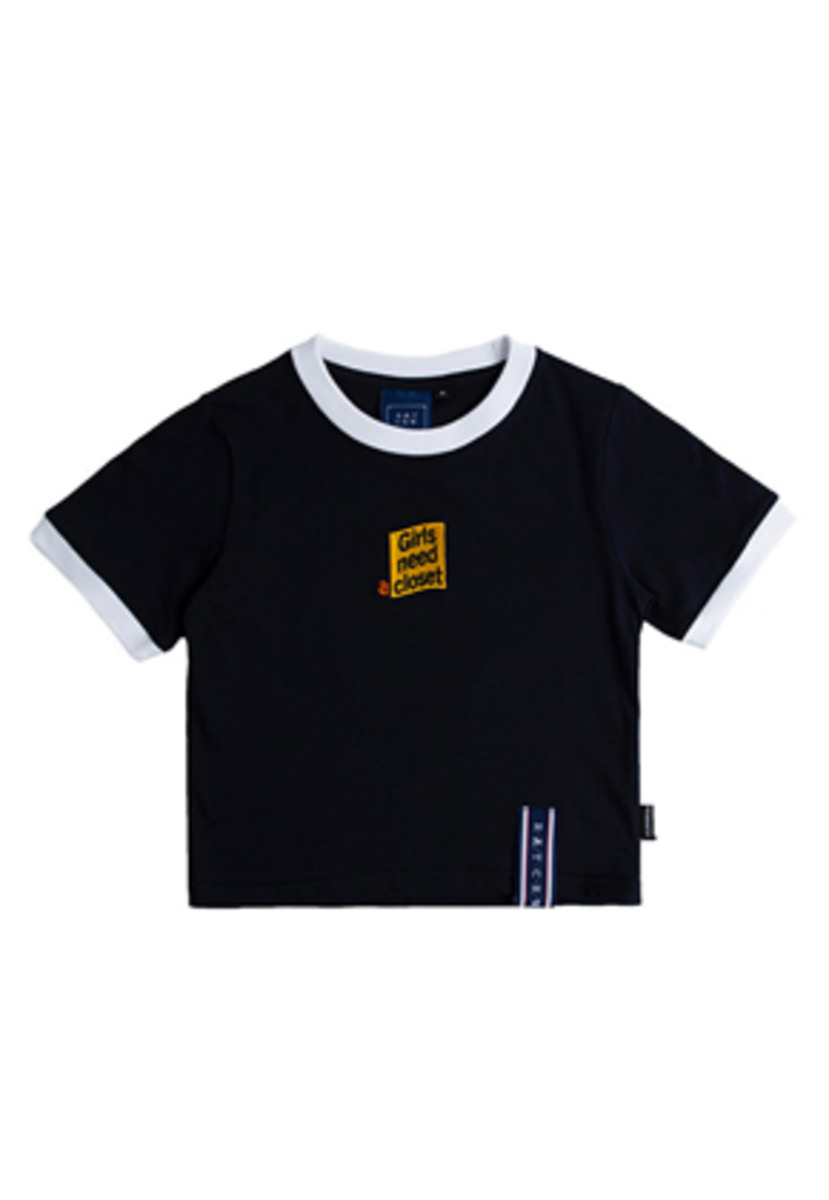 Romantic Crown로맨틱크라운 GNAC Crop T Shirt_Navy