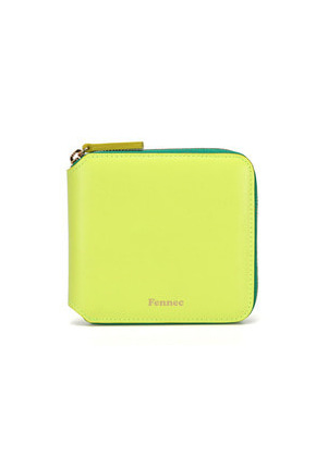 Fennec페넥 COMBI ZIPPER WALLET 003 NEON YELLOW