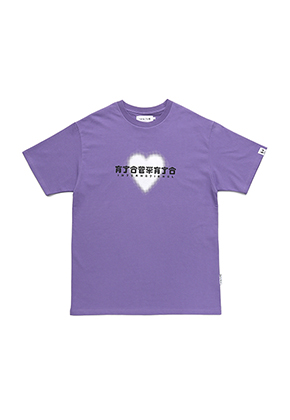 AJO BY AJO아조바이아조 Heart Logo T-Shirt[Purple]