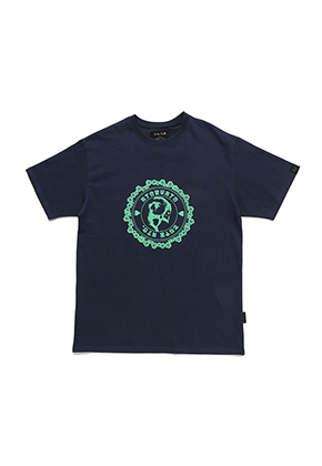 AJO BY AJO아조바이아조 Stamp T-Shirt[Navy]