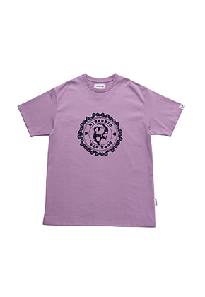 AJO BY AJO FINK LABEL Stamp T-Shirt[Lavender]