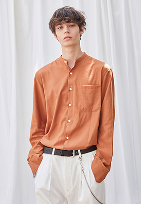 Yan13얀써틴 SPLASH POCKET CHINA SH_DARK ORANGE