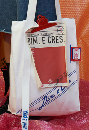DIM.E.CRES.딤에크레스 DIM. E CRES. CLIP ECO BAG WHITE