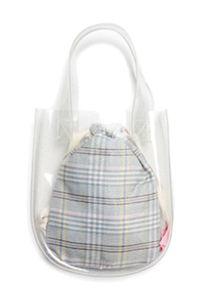 Margarin Fingers마가린핑거스 ROUND PVC TOTE BAG (GLITTER)