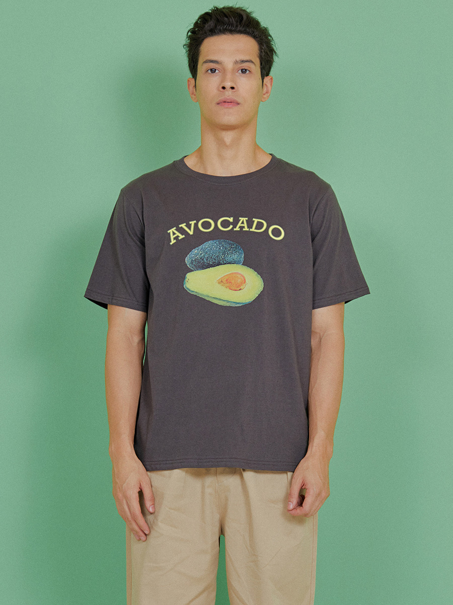 INDIGO CHILDREN인디고칠드런 AVOCADO T-SHIRT [CHARCOAL]