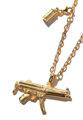Kruchi크루치 Mp5 & M18 smoke necklace (silver,14k gold plated)