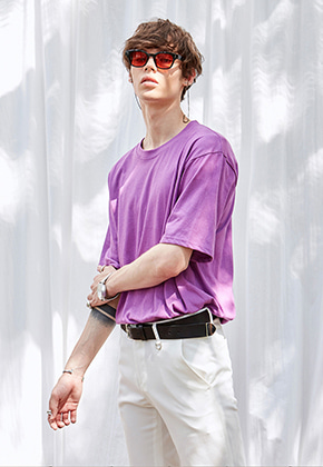 Yan13얀써틴 CRUCIAL ROUND T-SHIRTS_PURPLE