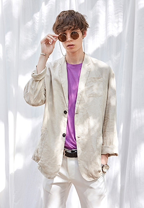 Yan13얀써틴 SOFT TAILORED SINGLE JACKET_BEIGE