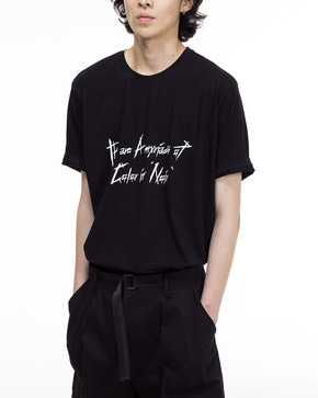 Noirer노이어 Silk Lettering T-shirts 실크 레터링 티셔츠