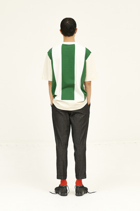SEC세크 [Unisex] Colour Blocked T-Shirt _ Forest Green