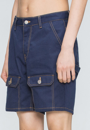 Romantic Crown로맨틱크라운 Two Way Pocket Pants_Navy