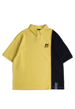 Romantic Crown로맨틱크라운 Piping Polo Shirts_Butter