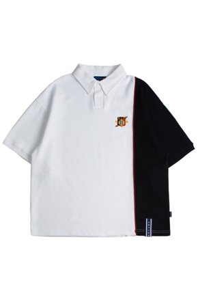 Romantic Crown로맨틱크라운 Piping Polo Shirts_White