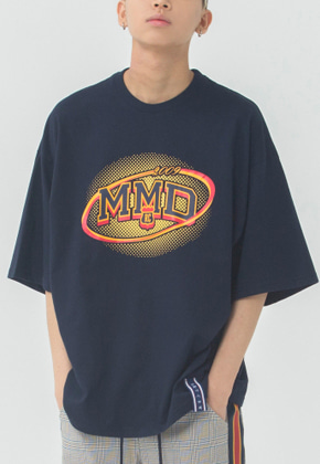 Romantic Crown로맨틱크라운 MMD Dot Logo T Shirt_Navy