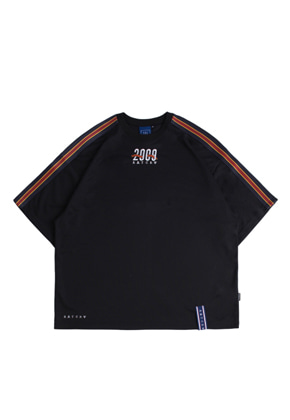 Romantic Crown로맨틱크라운 Shoulder Line Banding Jersey_Black