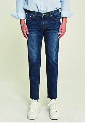 Deans딘스 [DEANS] CUT STRAIGHT LINE JEAN_DENIM