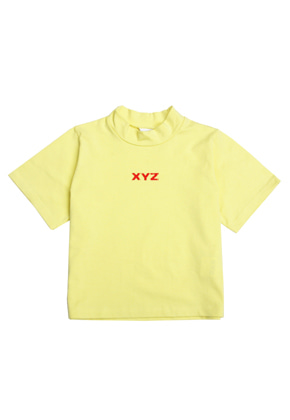 XYZ LOGO CROP T-SHIRT - YELLOW