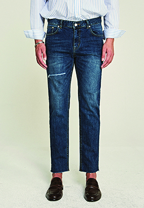 Deans딘스 [DEANS] SLIGHT SCRATCH STRAIGHT JEAN_DENIM