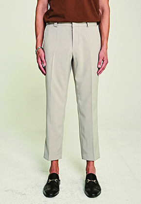 Deans딘스 [DEANS] REGULAR BANDING SLACKS_LIGHT GRAY
