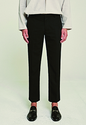 Deans딘스 [DEANS] STAND STRAIGHT-FIT SLACKS_BLACK
