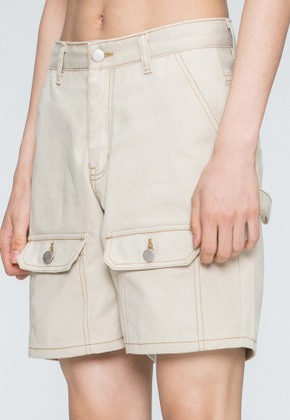 Romantic Crown로맨틱크라운 Two Way Pocket Pants_Beige