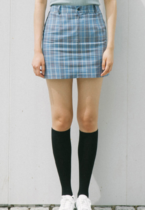 Sinoon시눈 sinoon check skirt (sky)