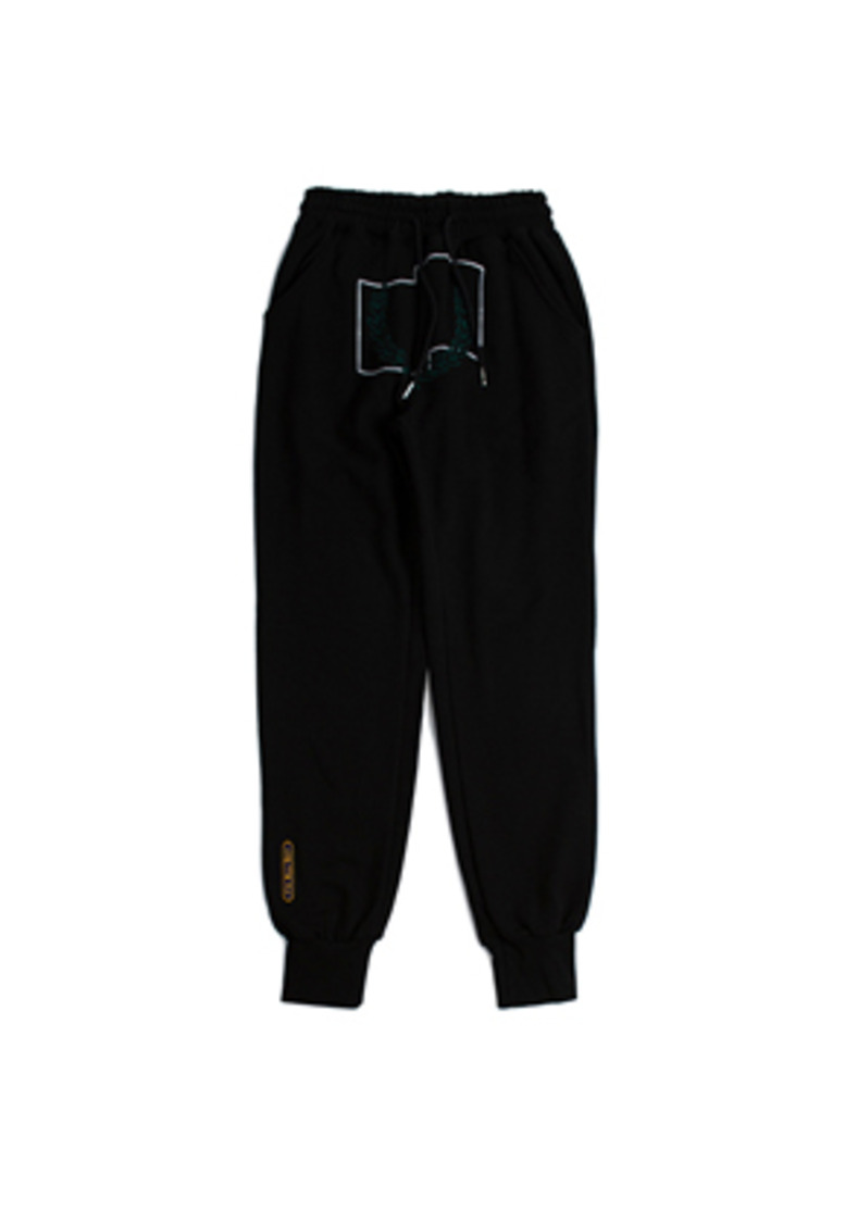 Romantic Crown로맨틱크라운 Laurel Crown Jogger Pants_Black