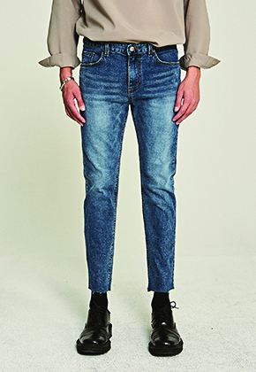 Deans딘스 [DEANS] USUAL STRAIGHT CROP JEAN_DENIM