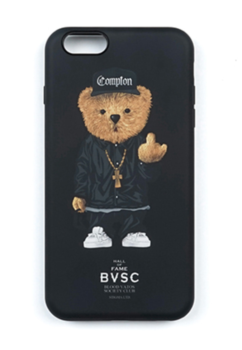 Stigma스티그마 PHONE CASE COMPTON BEAR BLACK iPHONE 8 / 8+ / X