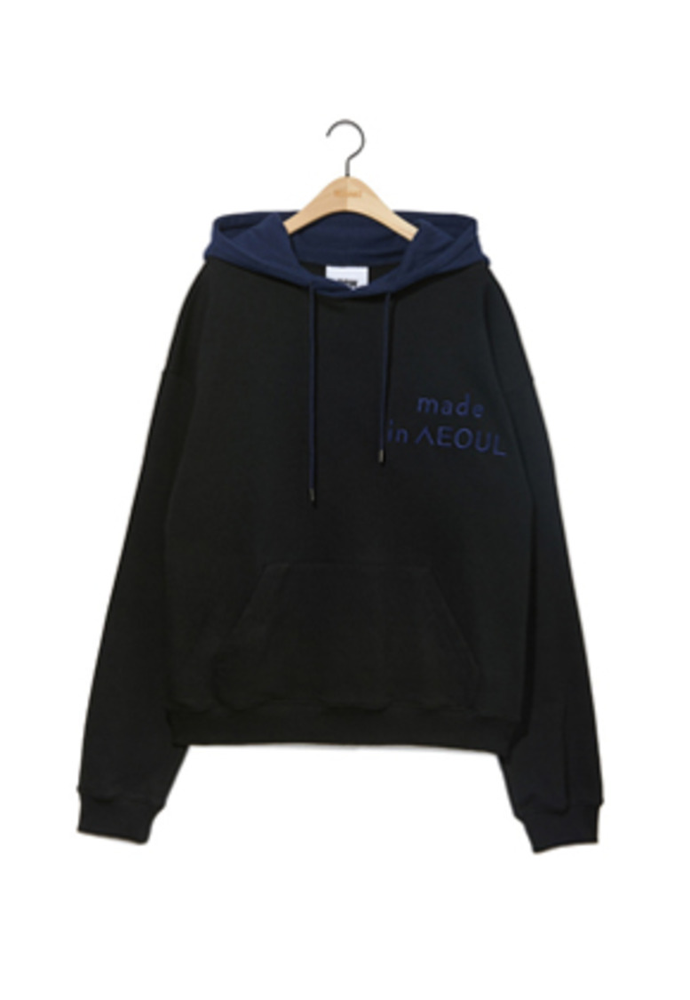 NOHANT노앙 MADE IN SEOUL HOODIE BLACK