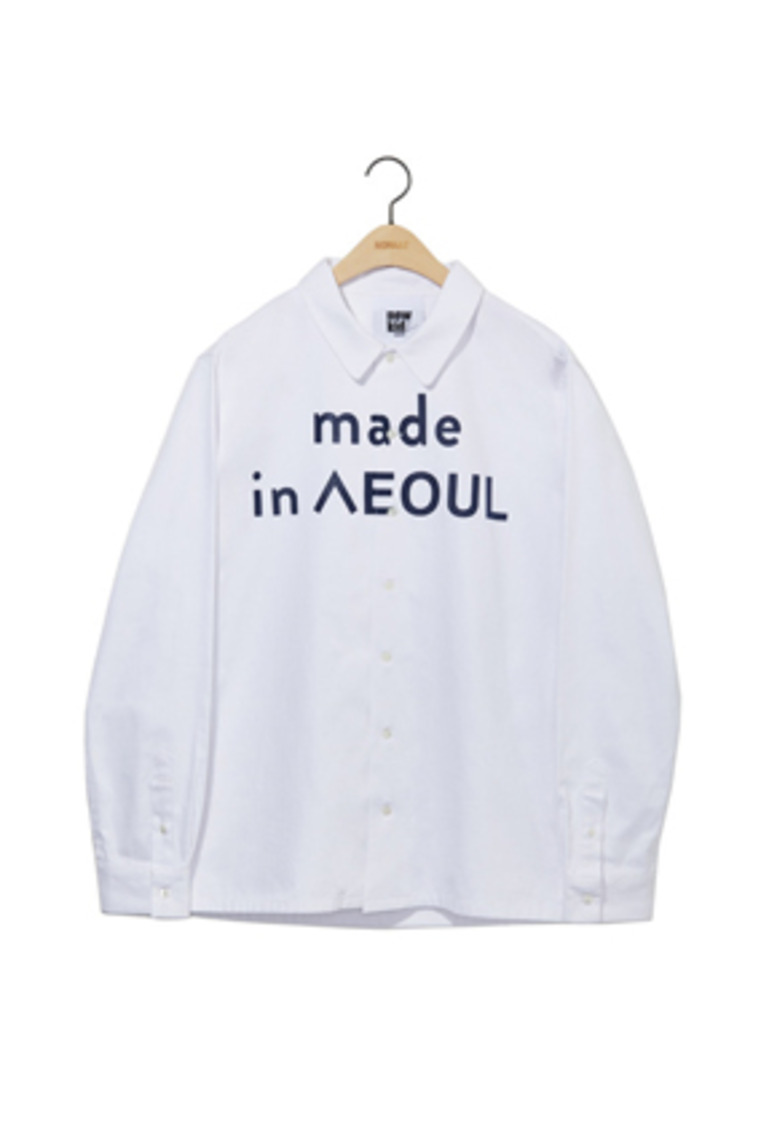 NOHANT노앙 MADE IN SEOUL SHIRT WHITE