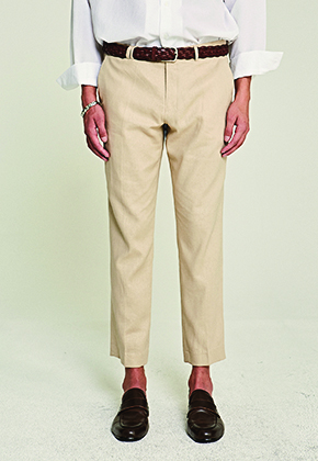 Deans딘스 [DEANS] SNOWY STRAIGHT-FIT SLACKS_BEIGE