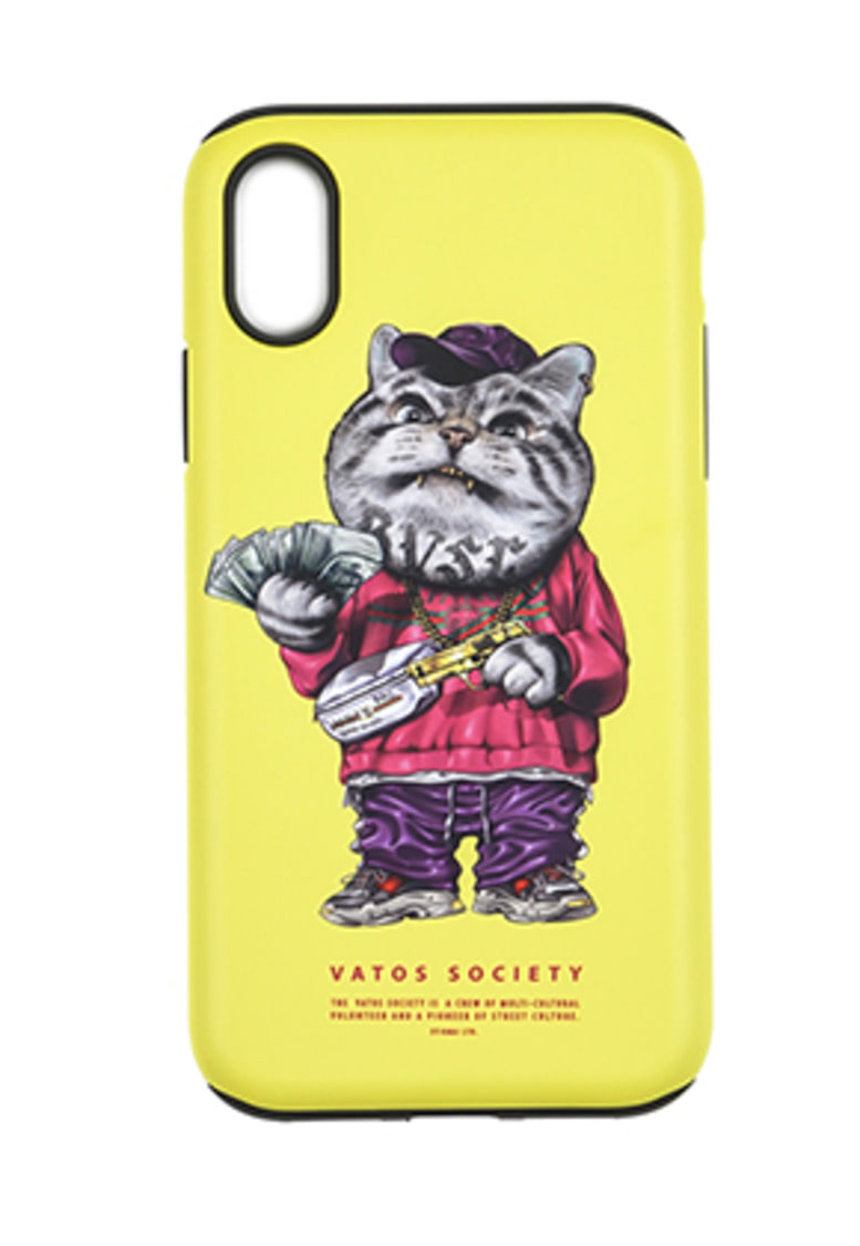 Stigma스티그마 PHONE CASE CATSGANG YELLOW iPHONE 8 / 8+ / X