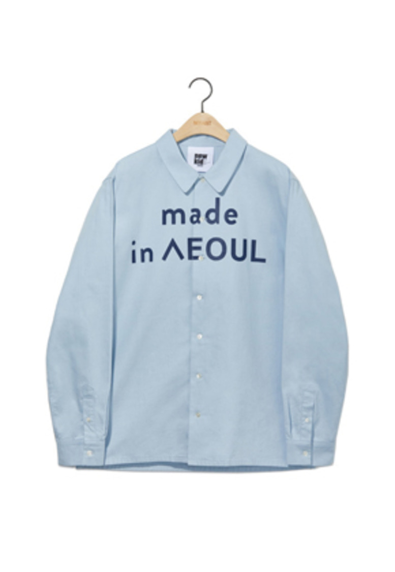 NOHANT노앙 MADE IN SEOUL SHIRT SKY BLUE