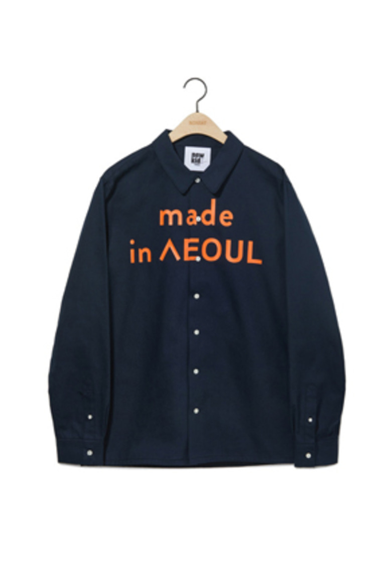 NOHANT노앙 MADE IN SEOUL SHIRT NAVY