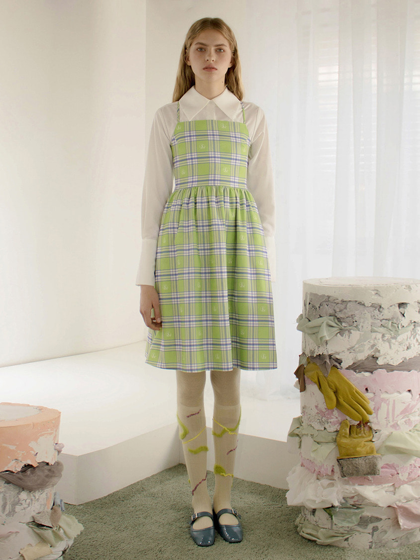 Sinoon시눈 Clover check dress