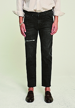 Deans딘스 [DEANS] SLIGHT SCRATCH STRAIGHT JEAN_BLACK DENIM