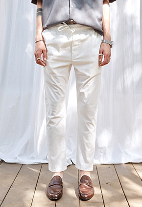 Yan13얀써틴 CLEAN BANDING SLACKS_IVORY