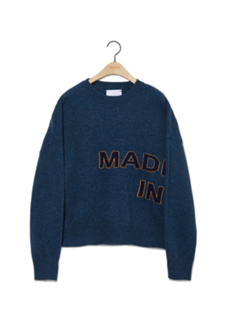 NOHANT노앙 MADE IN SEOUL KNIT SWEATER BLUE