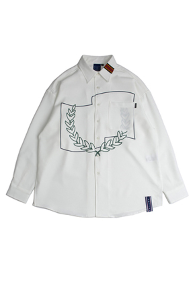 Romantic Crown로맨틱크라운 Laurel Crown Shirt_White