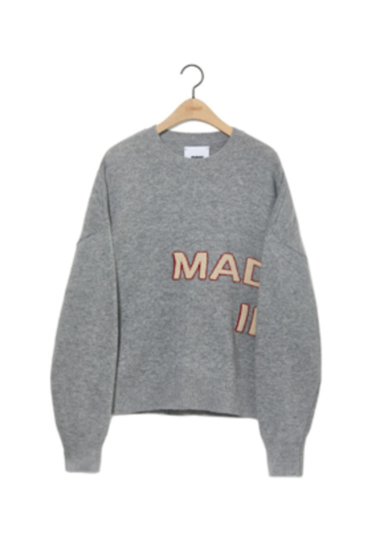 NOHANT노앙 MADE IN SEOUL KNIT SWEATER GRAY