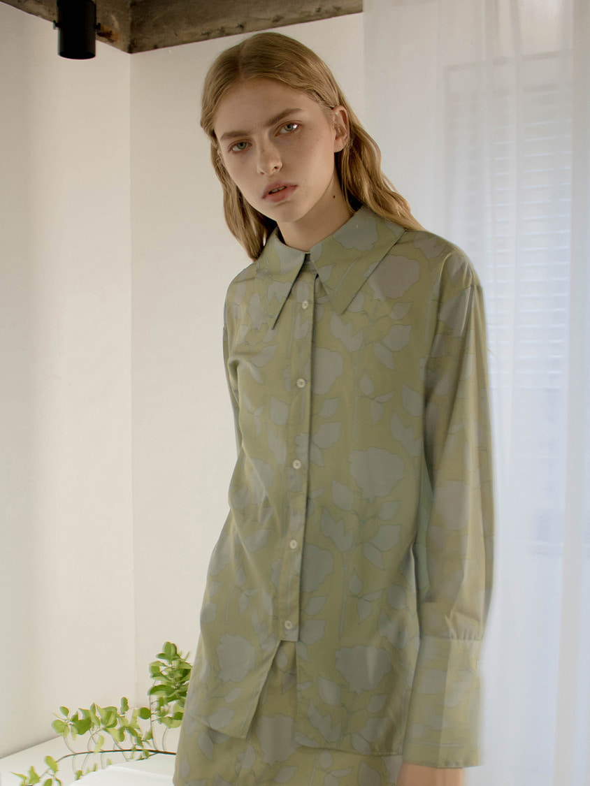 Sinoon시눈 Rose sauvage blouse (green)