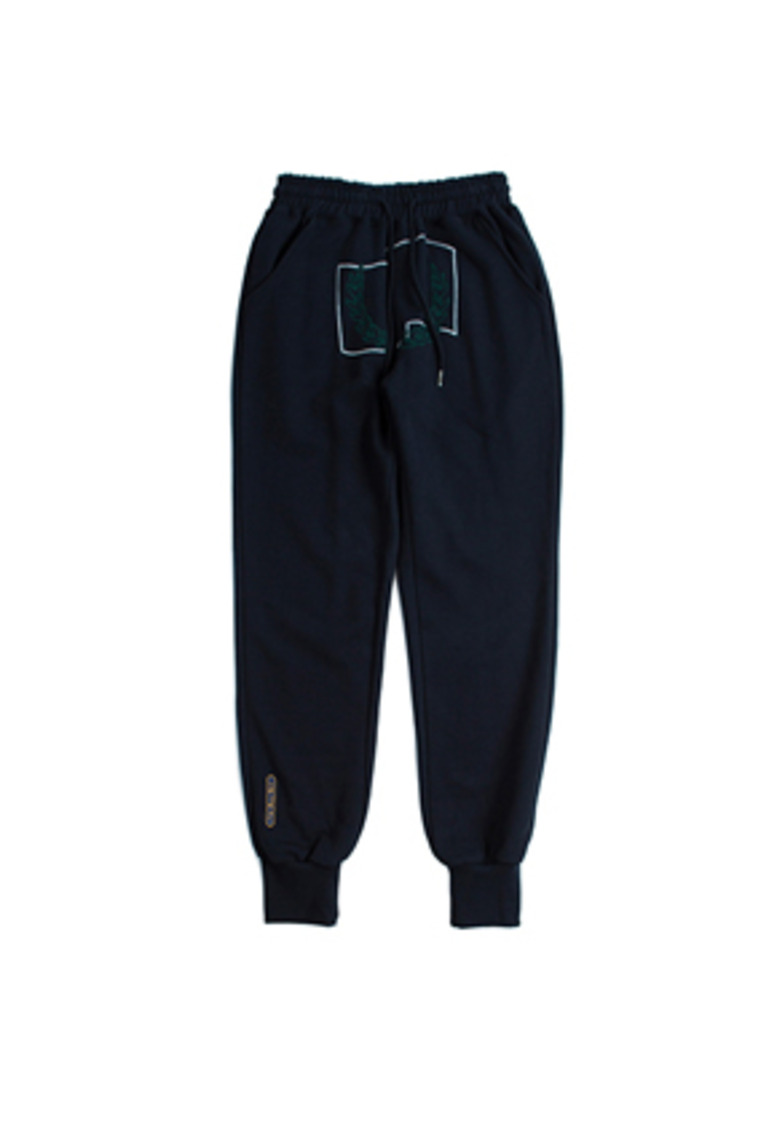 Romantic Crown로맨틱크라운 Laurel Crown Jogger Pants_Navy