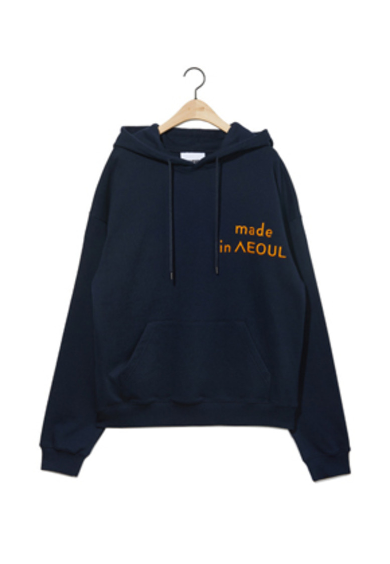 NOHANT노앙 MADE IN SEOUL HOODIE NAVY