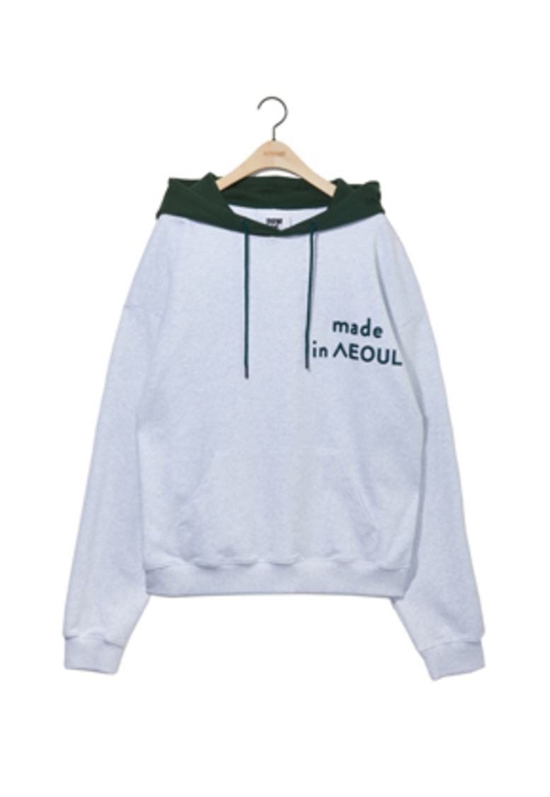 NOHANT노앙 MADE IN SEOUL HOODIE ASH GRAY