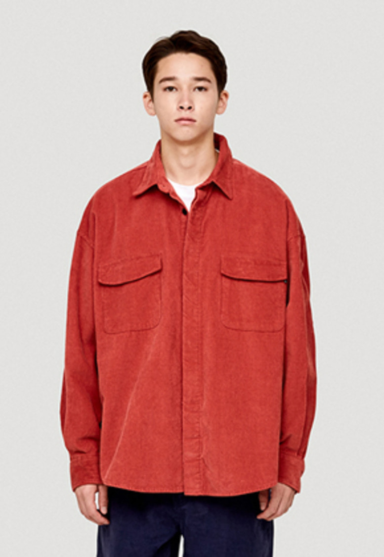 WKNDRS위캔더스 OVERSIZED CORDUROY SHIRT JK (RED)