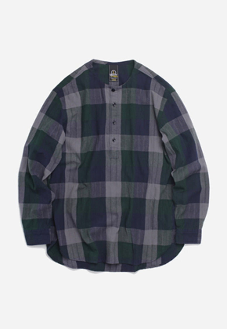 FRIZMWORKS프리즘웍스 Glad henley neck shirt _ green check