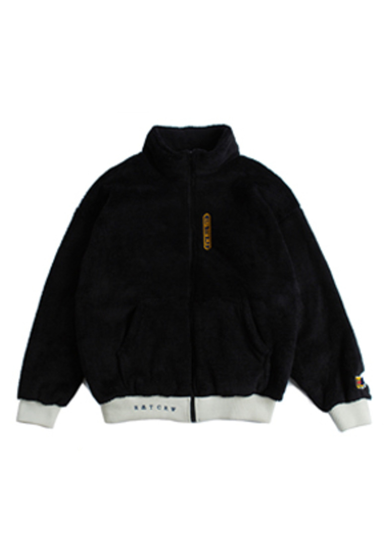 Romantic Crown로맨틱크라운 Yeti Zip Up Jacket_Black
