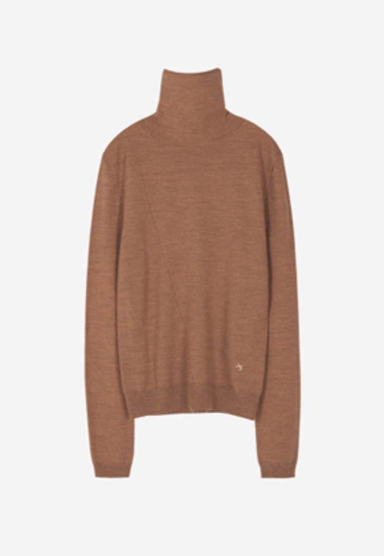 Anderssonbell앤더슨벨 MARIA FITTED TURTLENECK SWEATER atb233w(PEACH BROWN)